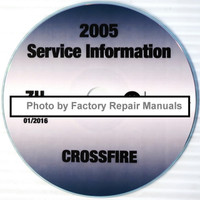 2005 Chrysler Crossfire Service Information CD