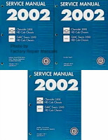 2002 GM 3500 HD Chassis Cab Service Manuals GM CK Platform