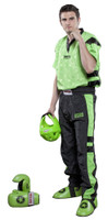 PQ Mesh Uniform 'Neon Ltd' Green/Black Children