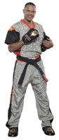 PQ Mesh Uniform 'Neon Ltd' Grey/Orange Children
