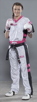 PQ Mesh Uniforms 'Neon Ltd' Pink/White Childrens