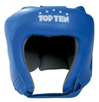 "TOP TEN ""AIBA"" Boxing Head Guard - with label - Blue"