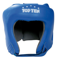 TOP TEN Boxing Head Guard Leather Blue
