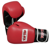 "TOP TEN ""AIBA"" Boxing Gloves 12oz Red"