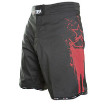 "TOP TEN MMA-Shorts ""Comet"" Black/Red"