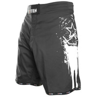 "TOP TEN MMA-Shorts ""Comet"" Black/White"