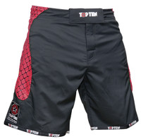 "TOP TEN MMA-Short ""CAGE"" Black/Red"