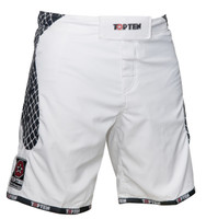 "TOP TEN MMA-Short ""CAGE"" White"