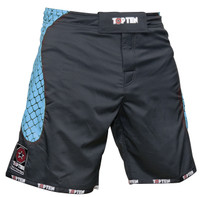 "TOP TEN MMA-Short ""CAGE"" Black/Blue"