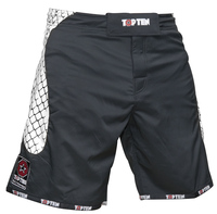 "TOP TEN MMA-Short ""CAGE"" Black/White"