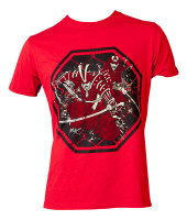 "T-shirt TOPTEN MMA ""Samurai"" Red 1462-4"