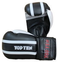 "Boxing-/Sparring Gloves TOP TEN ""Stripe"" 10/12/16oz BLACK (2274-40)"