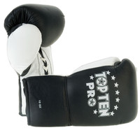 TOP TEN PRO Gloves BLACK/WHITE Thumbs 8oz & 10oz - 2016-91