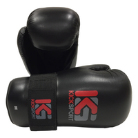 "KICKSPORT POINTS GLOVES ""FIGHT"" - BLACK (KSFPG-09)"