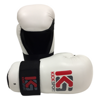 "KICKSPORT POINTS GLOVES ""FIGHT"" - WHITE (KSFPG-01)"