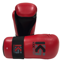 "KICKSPORT POINTS GLOVES ""FIGHT"" - RED (KSFPG-04)"