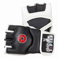 "TOP TEN MMA GRAPPLING GLOVES ""E-FLEXX"" BLACK/WHITE (2331-9)"