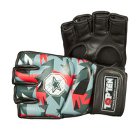 "TOP TEN MMA ULTIMATE FIGHT GLOVES ""JUNGLE"" BLACK/RED (23121-94"