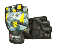 "TOP TEN MMA ULTIMATE FIGHT GLOVES ""JUNGLE"" BLACK/YELLOW (23121-95)"