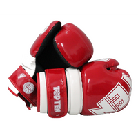"TOP TEN ""W.A.K.O."" Pointfighter Gloves BLOCK - RED/WHITE"
