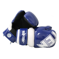 "TOP TEN ""W.A.K.O."" Pointfighter Gloves BLOCK - Blue/White"