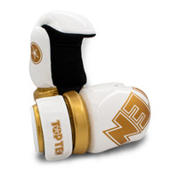"TOP TEN ""W.A.K.O."" Pointfighter Gloves BLOCK - WHITE/GOLD"