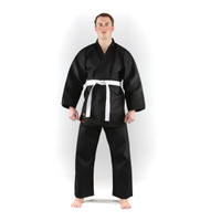 Adults Black Karate Gi ~ 7.5oz by KI
