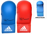 Adidas WKF Approved Karate Mitts Without Thumb - Blue and Red (661.22/B/R)