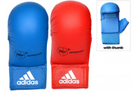 Adidas WKF Karate Mitts With Thumb- Red and Blue