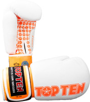 "Boxing Gloves ""Fight"" - white-orange, 10 oz"