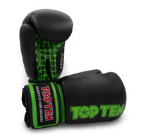 "Boxing Gloves ""Fight"" black/green 10 oz"