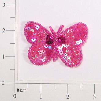 "2 1/8"" x 1 1/2"" Butterfly Sequin Applique"