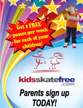 """Promote your Kids Skate Free program with these glossy 18.5"""" x 24"""" posters."""