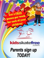 "Promote your Kids Skate Free program with these glossy 18.5"" x 24"" posters."