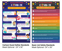 COVID19 Guest Standards Poster - Mask Optional
