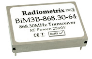 BiM3B - 869MHz Wide Band FM radio transceiver module 869.85MHz or 868.30MHz