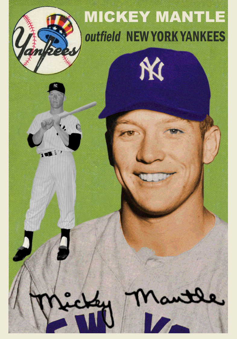 The 1954 Topps Mickey Mantle The Card That Never Was Kind