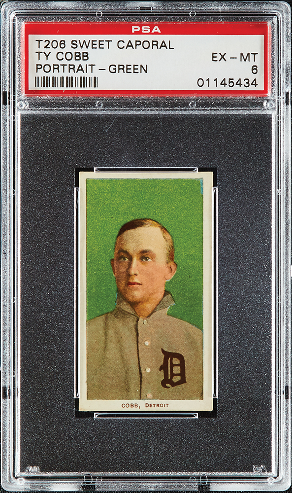 1909-1911 T206 Ty Cobb PSA Portrait-Green