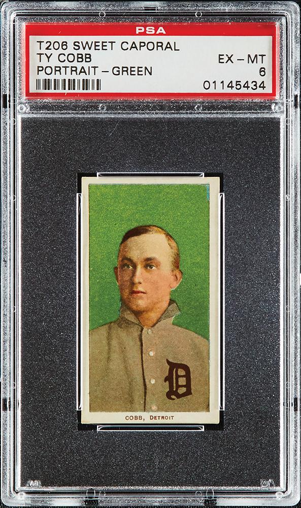 1909-1911 T206 Ty Cobb PSA Portrait-Green