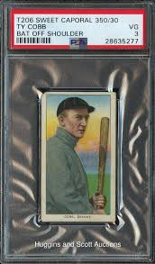 1909-1911 T206 Ty Cobb Bat Off Shoulder