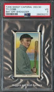 1909-1911 T206 Ty Cobb Bat Off Shoulder