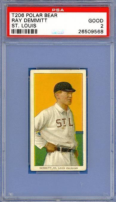 1909 T206 Ray Demmitt St. Louis