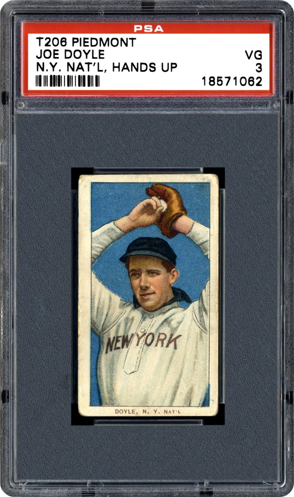 1909 T206 Joe Doyle Error N.Y. National L.