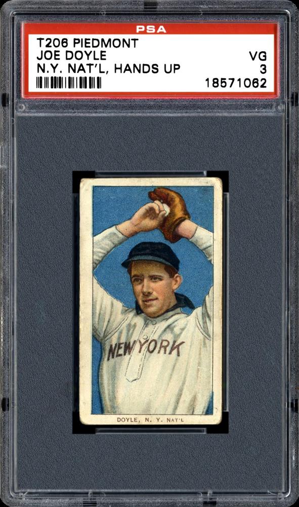 1909 T206 Joe Doyle Error N.Y. National L.