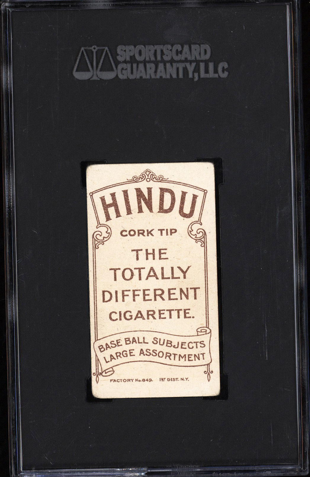 T206 Hindu Brown Rare Back