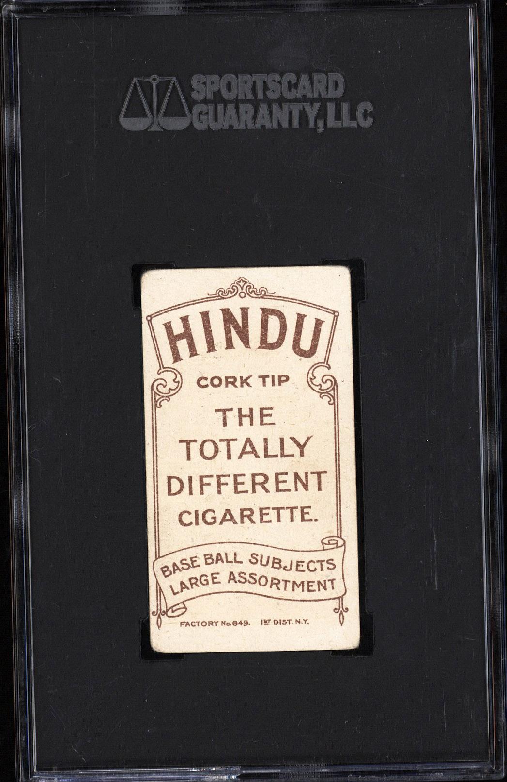 T206 Hindu Brown Rare Back