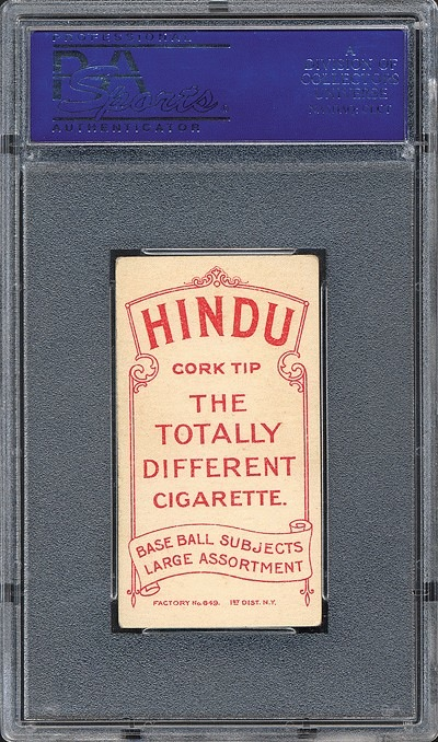 T206 Hindu Red Rare Back