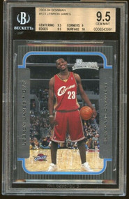 2003 Bowman Lebron James Rookie RC BGS 9.5 Gem Mint w/10 sub