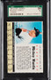 1961 Post Cereal Mickey Mantle #4 Company SGC 7-High End