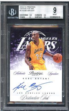 2012 Prestige Distinctive Ink Kobe Bryant #2 BGS 9 MINT w/ 10 Auto